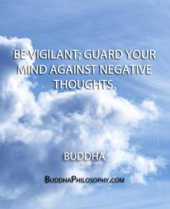 negative thoughts quote from Buddha
