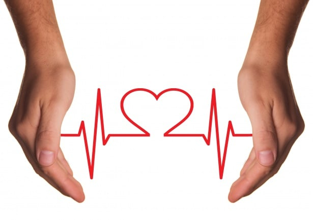 health - two hands and a heart symbol